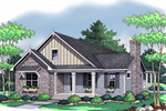 Lovely Country French Home Features Craftsman Design