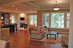 Ranch House Plan Living Room Photo 02 - 091D-0489 | House Plans and More