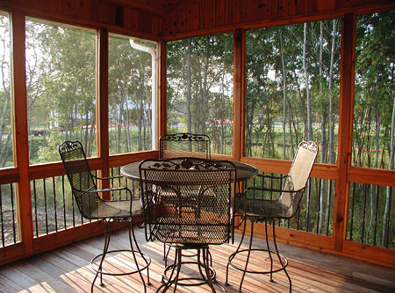 Ranch House Plan Screened Porch Photo 01 091D-0489