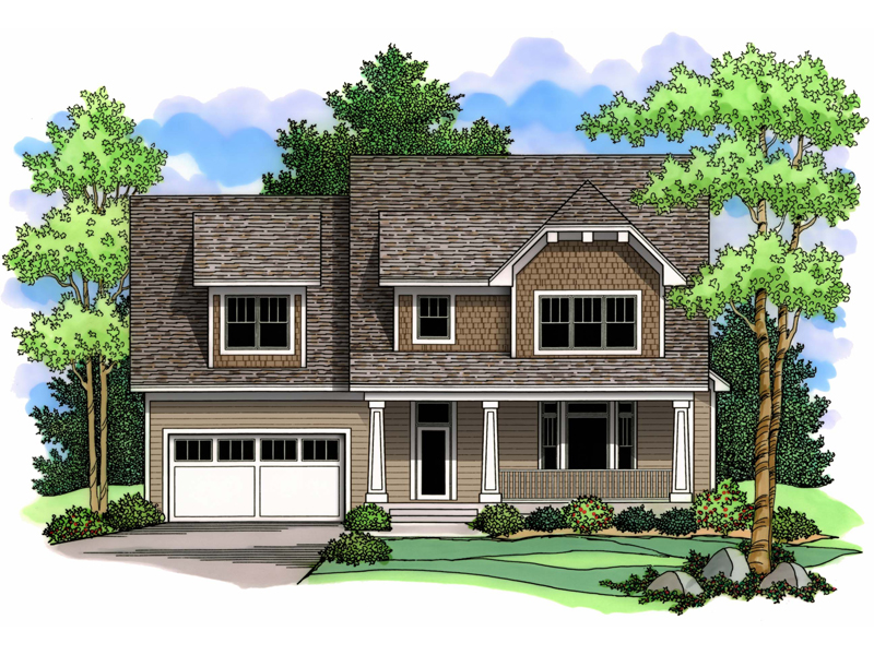 Tudor House Plan Front of Home - 091D-0493 | House Plans and More