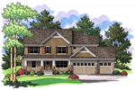 Traditional Craftsman Home Features Tudor Sensibility