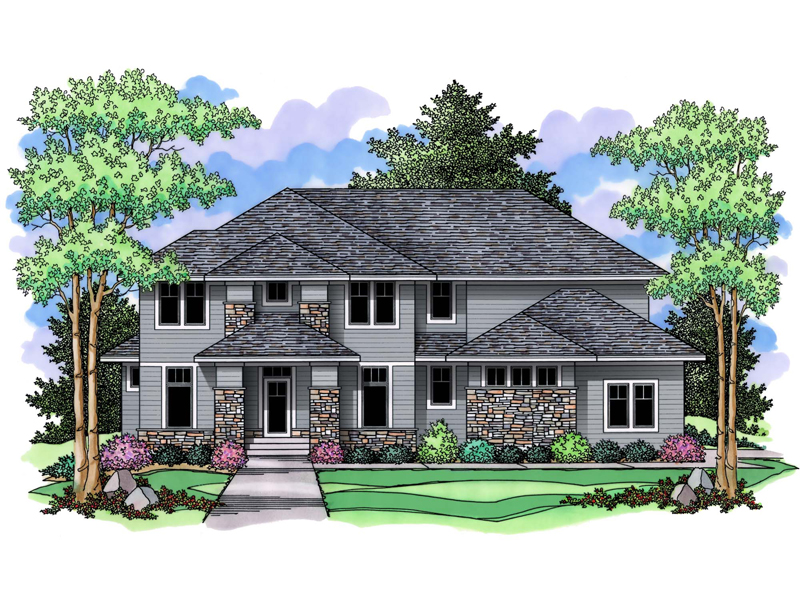 Luxury House Plan Front of Home - 091D-0498 | House Plans and More