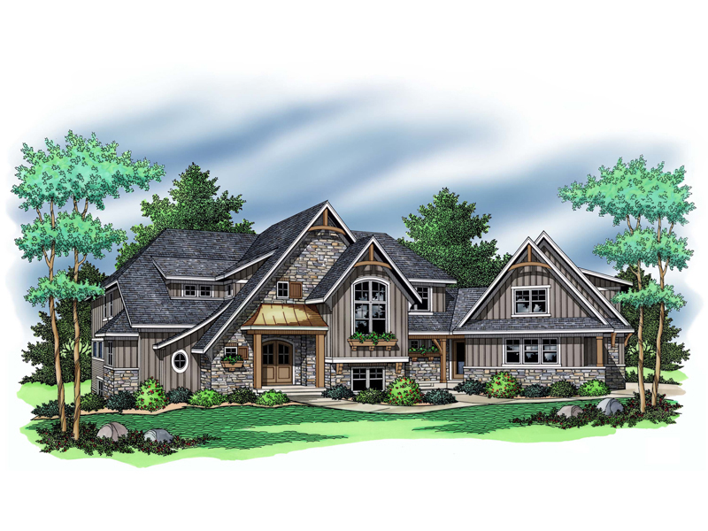 Tudor House Plan Front of Home - 091D-0504 | House Plans and More
