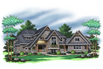 Country French Home Plan Front of Home - 091D-0504 | House Plans and More