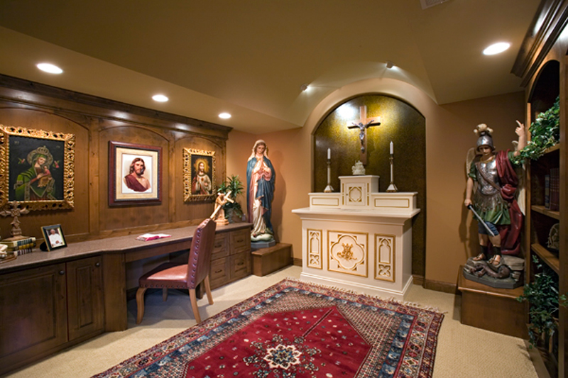 Contemporary House Plan Prayer Room Photo - 091S-0001 | House Plans and More
