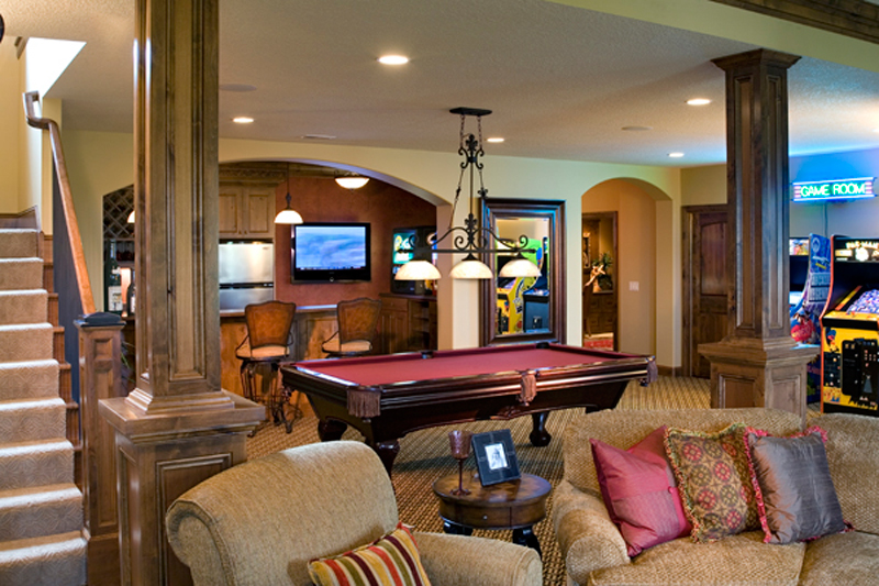 Contemporary House Plan Recreation Room Photo 01 091S-0001