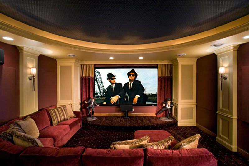 Modern House Plan Theater Room Photo 01 - 091S-0001 | House Plans and More
