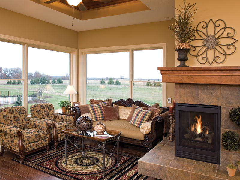 Luxury House Plan Fireplace Photo 01 091S-0002