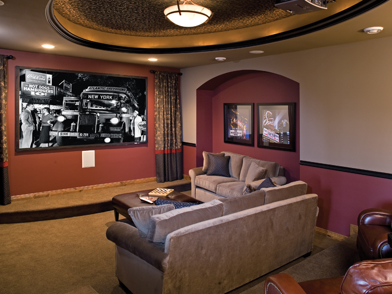 Luxury House Plan Media Room Photo 01 091S-0002