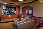 Contemporary House Plan Media Room Photo 01 - 091S-0002 | House Plans and More