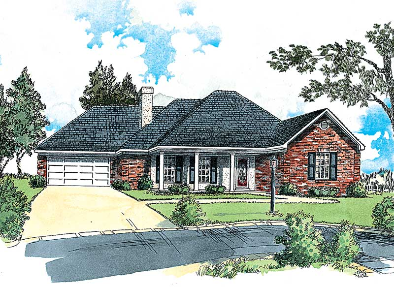 house plan with hip roof