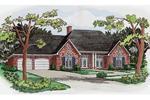 Symmetrical Brick Ranch Home Design