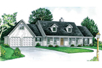 Cape Cod Style Home With Twin Dormers And A Covered Front Porch