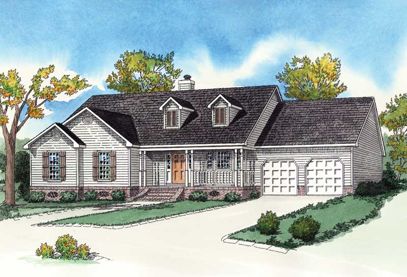Southern House Plan Front of Home - 092D-0019 | House Plans and More