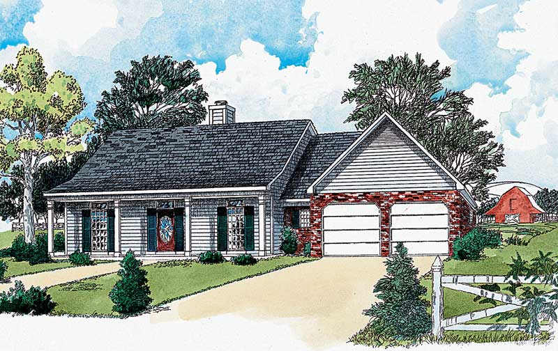 Country House Plan Front of Home - 092D-0020 | House Plans and More