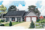 Ranch House Plan Front of Home - 092D-0020 | House Plans and More