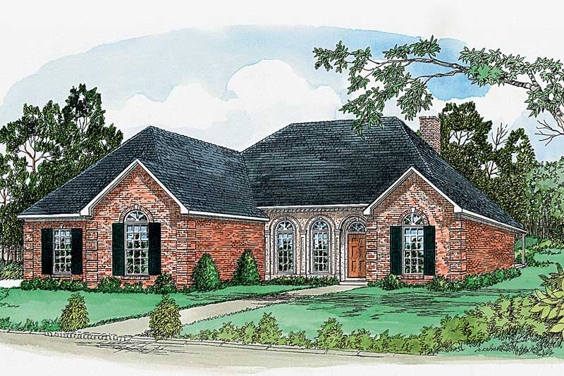 Southern Country Home With Appealing Brick Exterior