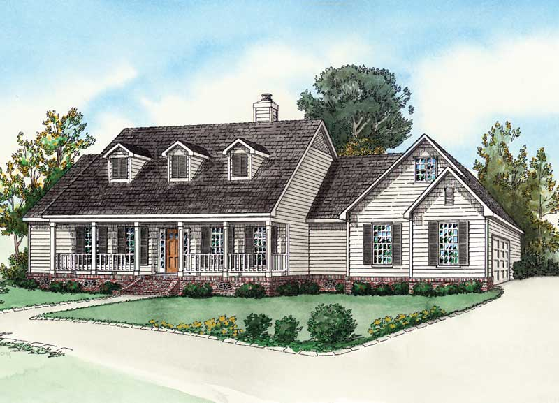 Cape Cod Colonial Home With Large Inviting Front Porch