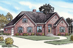 Traditional Brick Ranch Home Has Two-Car Side Entry Garage