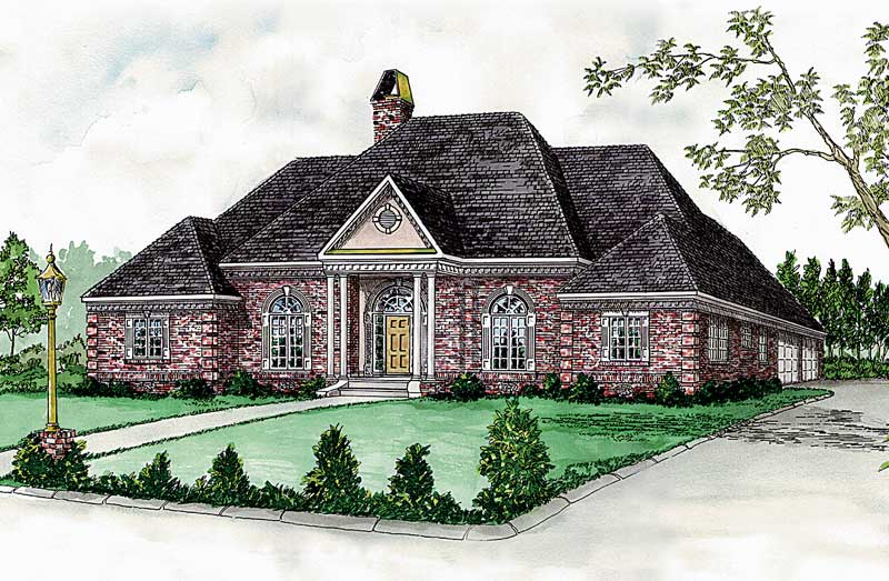 Southern House Plan Front of Home - 092D-0039 | House Plans and More
