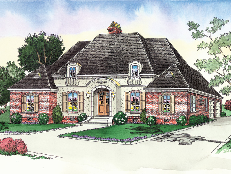 Southern House Plan Front of Home - 092D-0041 | House Plans and More