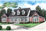Luxurious Southern Style Home With Dormer Trio And Covered Porch