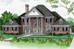 Luxury Traditional Two-Story Home Has Grand Pillars At The Front Entry