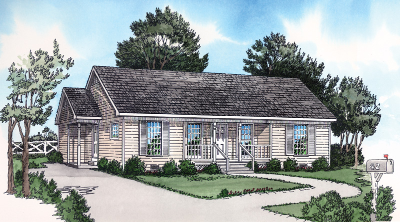 Country Style Home With Convenient Side Entrance
