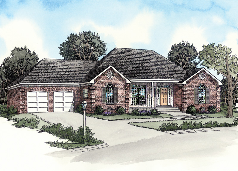 Traditional Brick Ranch Has Decorative Corner Quoins For Great Curb Appeal