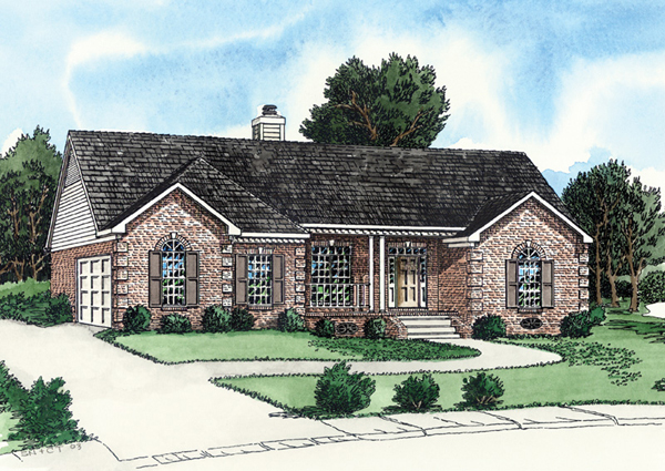 Chester hill ranch home plan 092d 0071 house plans and more for House plans with side entry garage