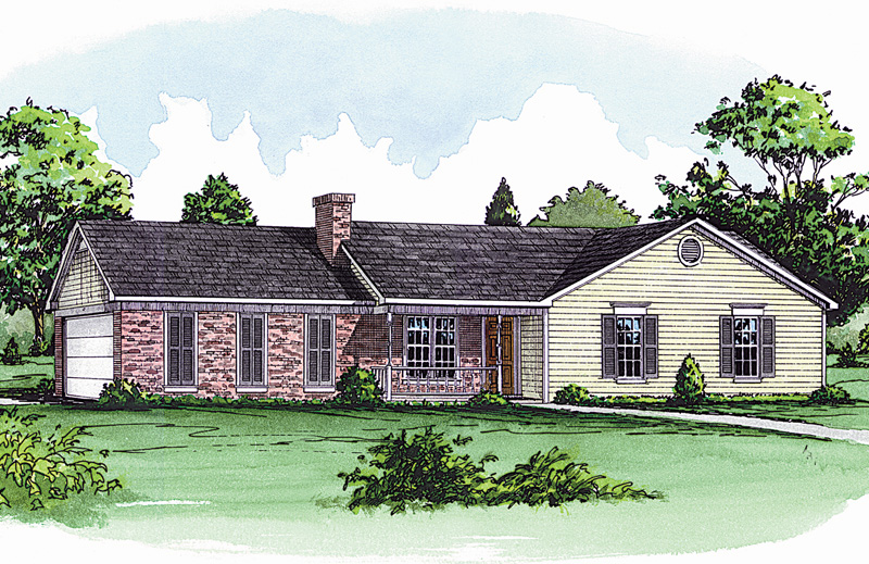 14 fresh traditional ranch home plans house plans 70920 for Traditional ranch home plans