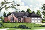 Brick Façade Adorns This Ranch Style Home