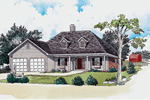 Ranch House Plan Front of Home - 092D-0085 | House Plans and More