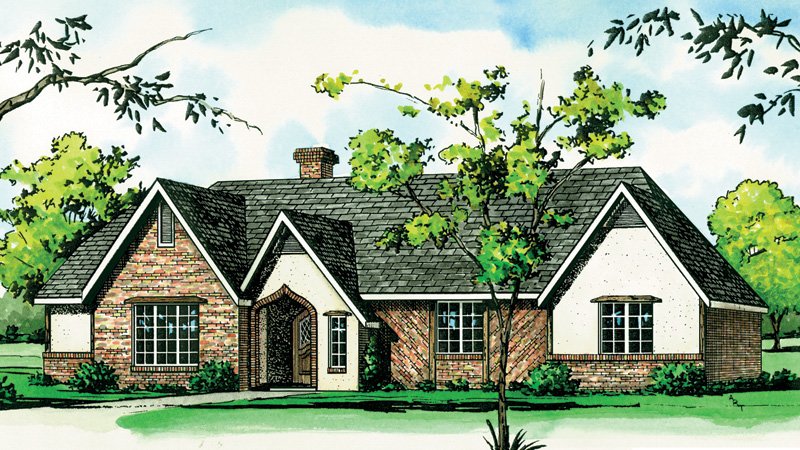 Country House Plan Front of Home - 092D-0087 | House Plans and More