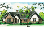 Ranch House Plan Front of Home - 092D-0087 | House Plans and More