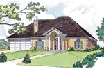 Southern Style Ranch Has Great Stucco Exterior