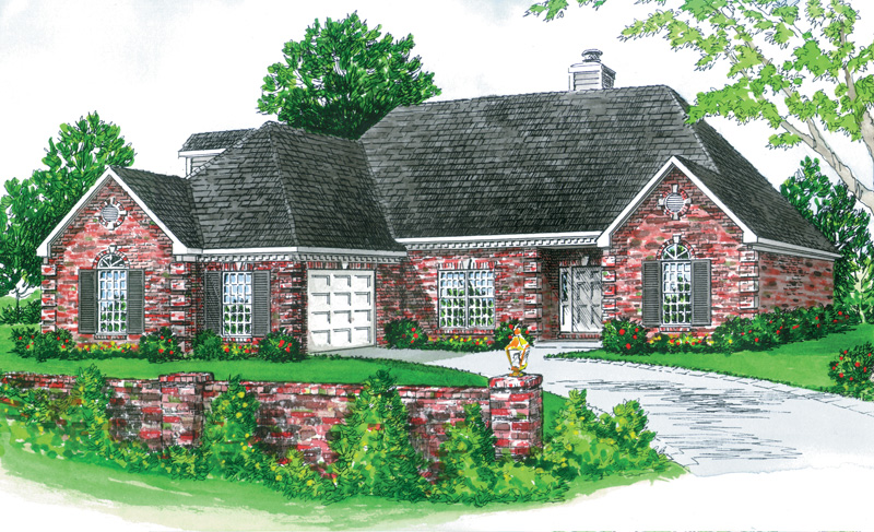 Traditional House Plan Front of Home - 092D-0103 | House Plans and More