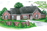 Ranch House Plan Front of Home - 092D-0103 | House Plans and More