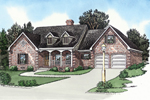 Traditional Country Style Home Has Two Dormers