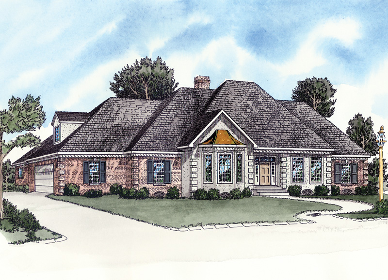 Ranch House Plan Front of Home - 092D-0126 | House Plans and More