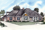 Traditional Style Ranch Home Is Adorned With Decorative Corner Quoins