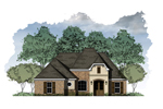 Simple Country French Design Ranch With Hip Roof Design