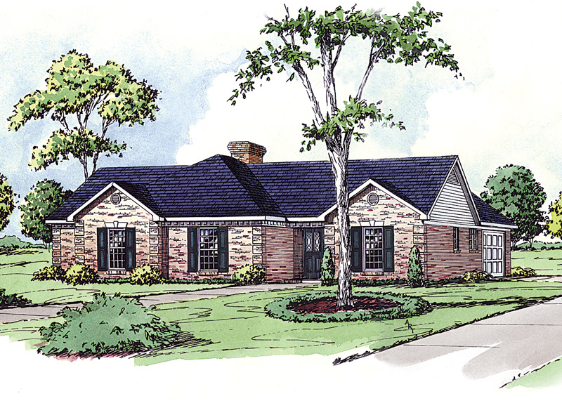 Stylish Ranch With Brick Front Has Traditional Style Perfect For Any Neighborhood