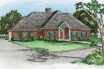 Stylish Brick Ranch With Centered Covered Front Porch