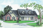 Country Style Home Has Inviting Front Porch And Twin Dormers