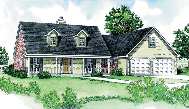 Country Style Home With Relaxing Covered Front Porch