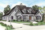Spacious Country Home Has Two Dormers on Front Exterior
