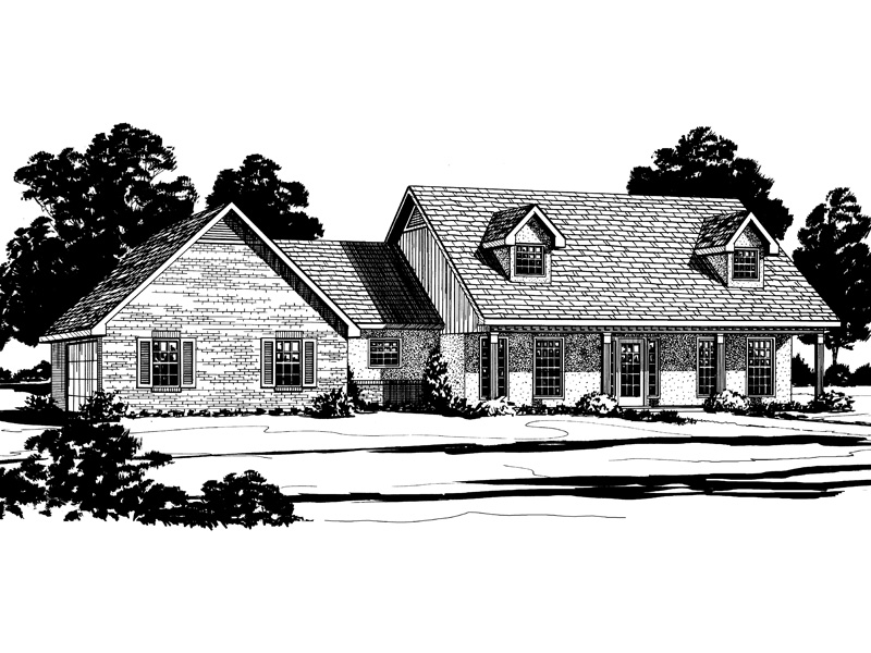 Traditional House Plan Front of Home - 092D-0173 | House Plans and More