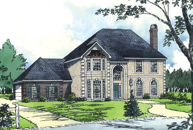 European House Plan Front of Home - 092D-0176 | House Plans and More