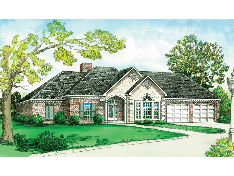 European House Plan Front of Home - 092D-0179 | House Plans and More